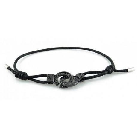 Bracelet menotte ruthénium serti i.d x-change XXS cordon