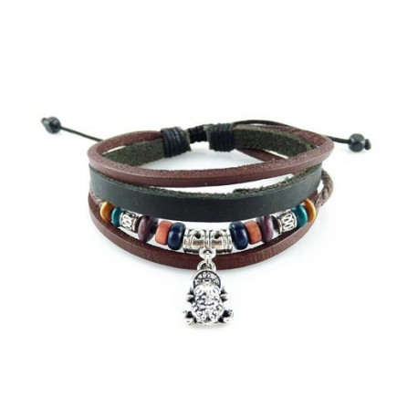 "Bracelet tibétain cuir TIB29 i.d x-change "" Tibéria """