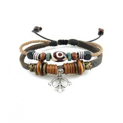 "Bracelet tibétain cuir TIB30 i.d x-change "" Tibéria """