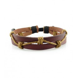"Bracelet tibétain cuir TIB32 i.d x-change "" Tibéria """