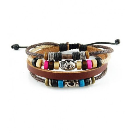 "Bracelet tibétain cuir TIB34 i.d x-change "" Tibéria """