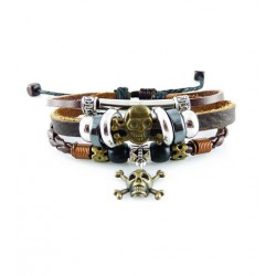 "Bracelet tibétain cuir TIB39 i.d x-change "" Tibéria """