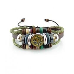 "Bracelet tibétain cuir TIB40 i.d x-change "" Tibéria """