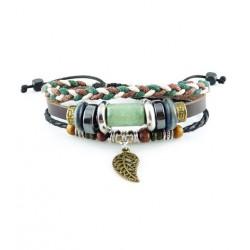"Bracelet tibétain cuir TIB41 i.d x-change "" Tibéria """