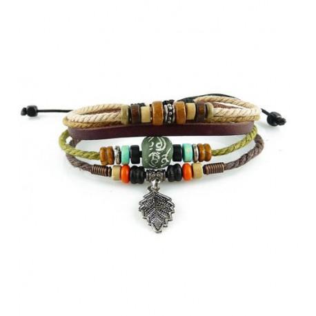 "Bracelet tibétain cuir TIB42 i.d x-change "" Tibéria """