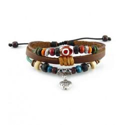 "Bracelet tibétain cuir TIB43 i.d x-change "" Tibéria """