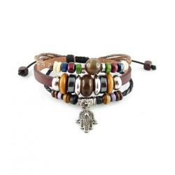 "Bracelet tibétain cuir TIB47 i.d x-change "" Tibéria """