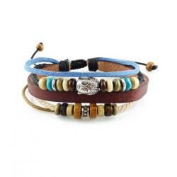 "Bracelet tibétain cuir TIB48 i.d x-change "" Tibéria """