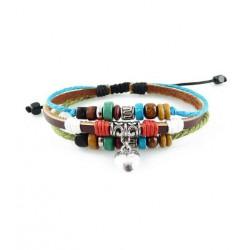 "Bracelet tibétain cuir TIB50 i.d x-change "" Tibéria """