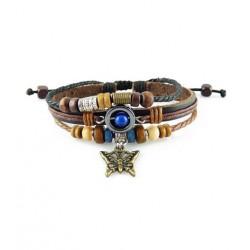 "Bracelet tibétain cuir TIB51 i.d x-change "" Tibéria """