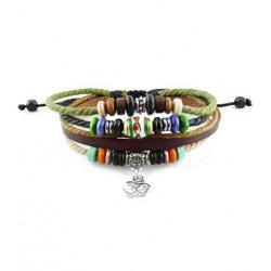 "Bracelet tibétain cuir TIB53 i.d x-change "" Tibéria """