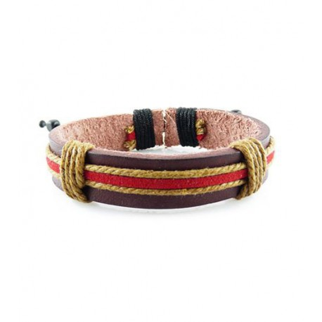 "Bracelet tibétain cuir TIB54 i.d x-change "" Tibéria """