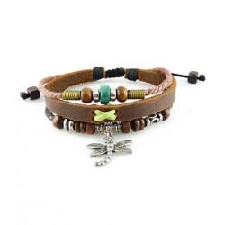 "Bracelet tibétain cuir TIB58 i.d x-change "" Tibéria """