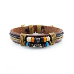 "Bracelet tibétain cuir TIB60 i.d x-change "" Tibéria """