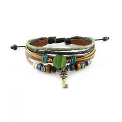 "Bracelet tibétain cuir TIB61 i.d x-change "" Tibéria """