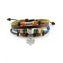 "Bracelet tibétain cuir TIB63 i.d x-change "" Tibéria """