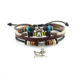 "Bracelet tibétain cuir TIB64 i.d x-change "" Tibéria """