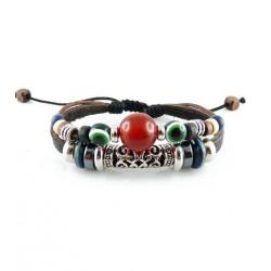 "Bracelet tibétain cuir TIB65 i.d x-change "" Tibéria """