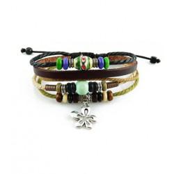 "Bracelet tibétain cuir TIB66 i.d x-change "" Tibéria """