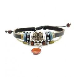 "Bracelet tibétain cuir TIB67 i.d x-change "" Tibéria """