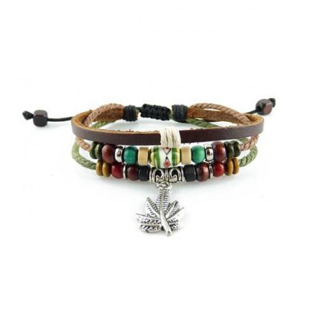 "Bracelet tibétain cuir TIB68 i.d x-change "" Tibéria """