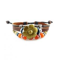 "Bracelet tibétain cuir TIB73 i.d x-change "" Tibéria """