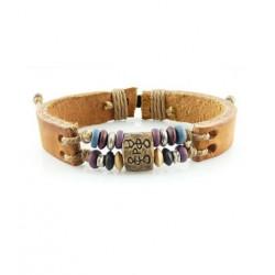 "Bracelet tibétain cuir TIB75 i.d x-change "" Tibéria """